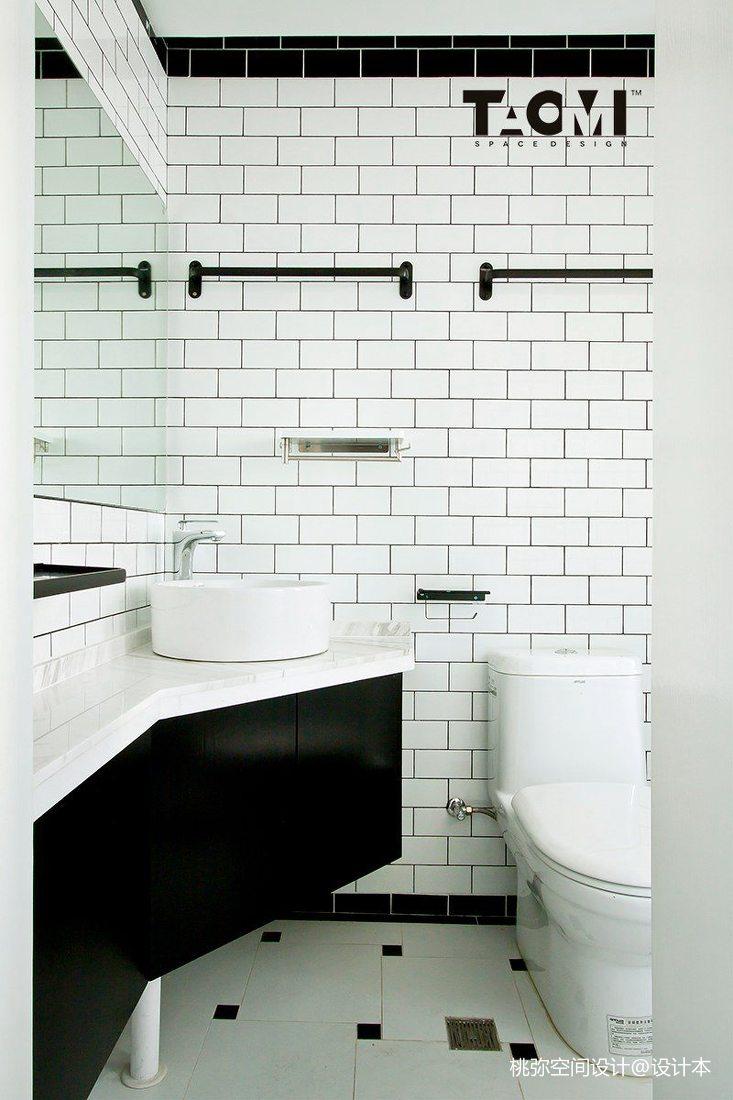 精美面积91平北欧三居卫生间装修图片大全