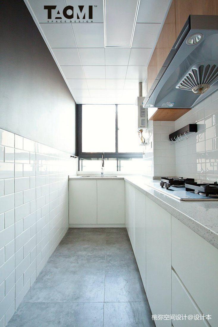 精美93平米三居厨房北欧效果图片