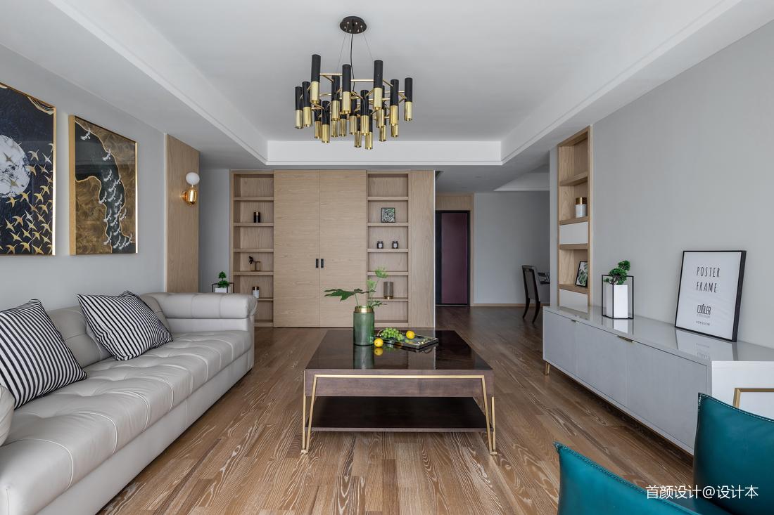 2018精选面积93平北欧三居客厅装修图
