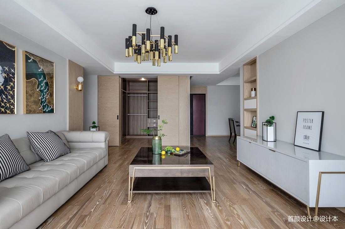 2018面积92平北欧三居客厅装修图