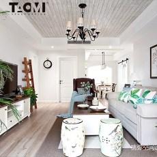 热门面积104平美式三居客厅装修图片大全