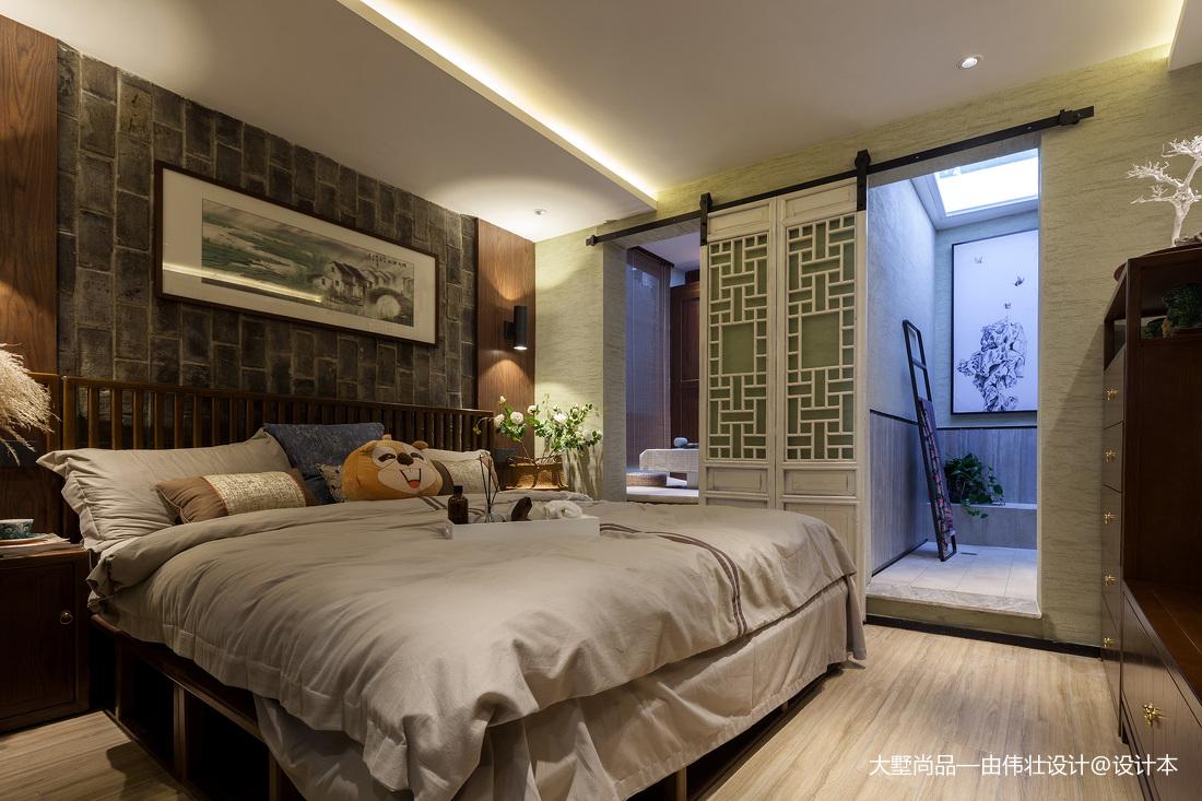 中式风57㎡复式豆荚户型变身六室两厅主卧设计图