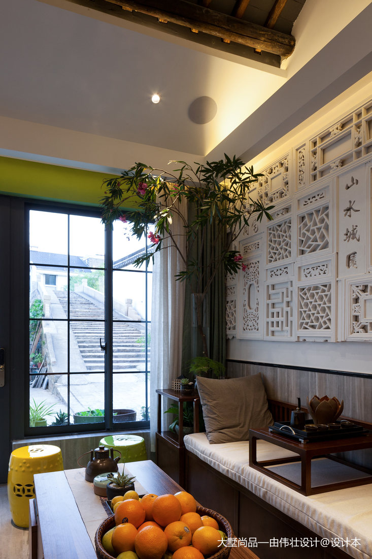 精选面积80平小户型客厅中式装修设计效果图片