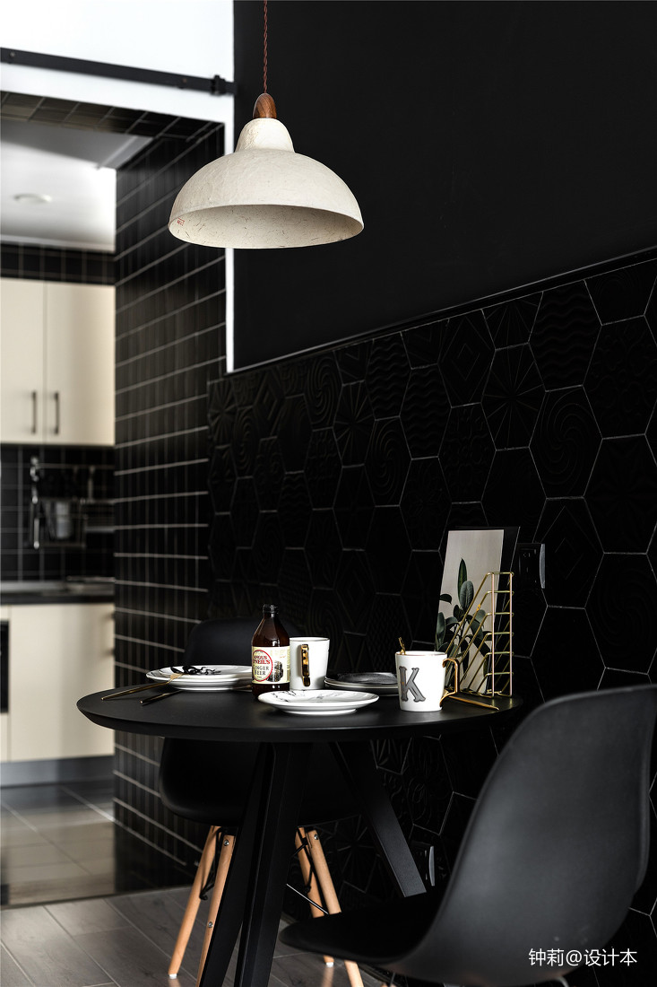 精选98平米三居餐厅北欧装修图片