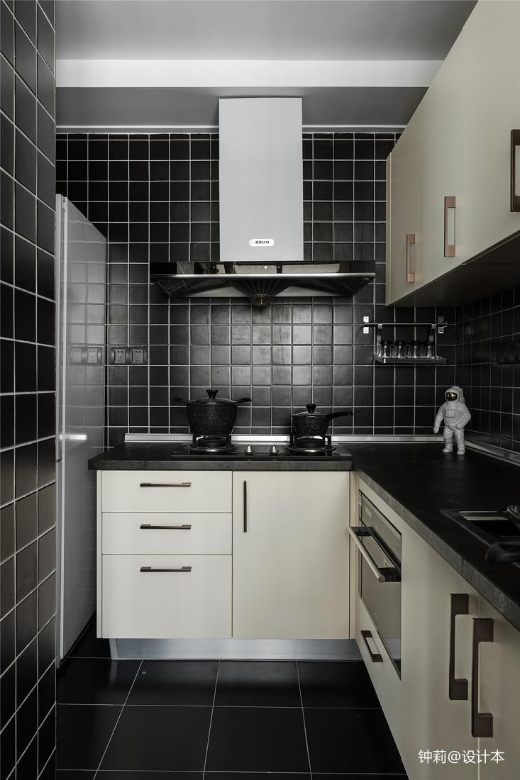 精选面积90平北欧三居厨房装饰图片