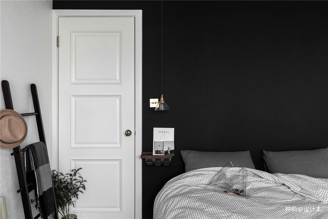 热门92平米三居卧室北欧装修设计效果图片