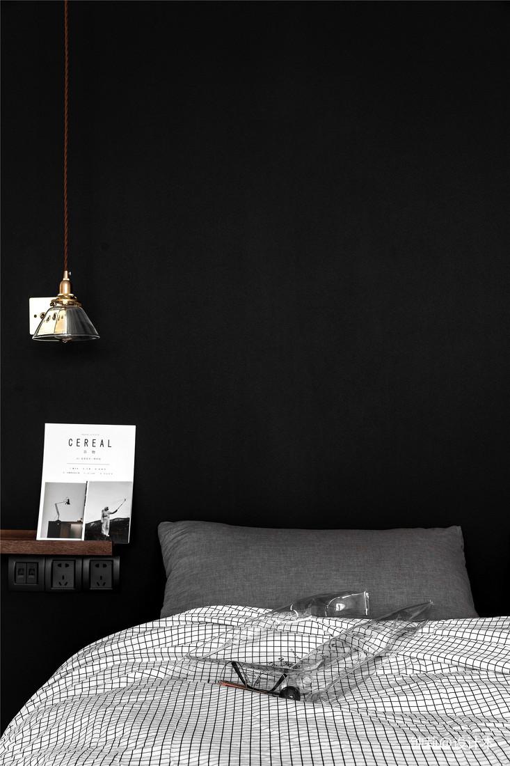 2018面积105平北欧三居卧室装修图片欣赏