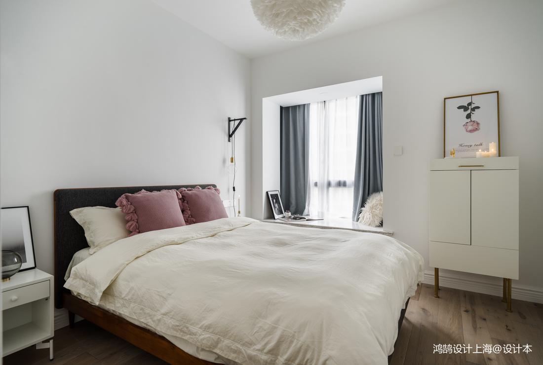 精美79平米二居卧室北欧实景图片