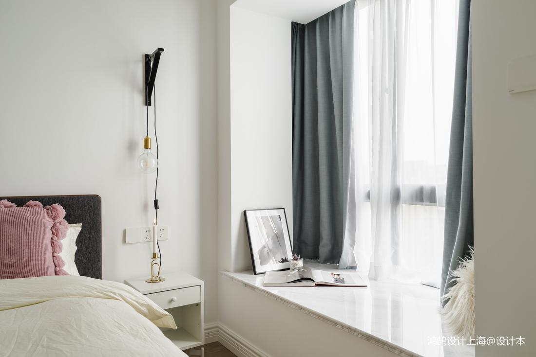 2018精选面积88平北欧二居卧室装修实景图片大全