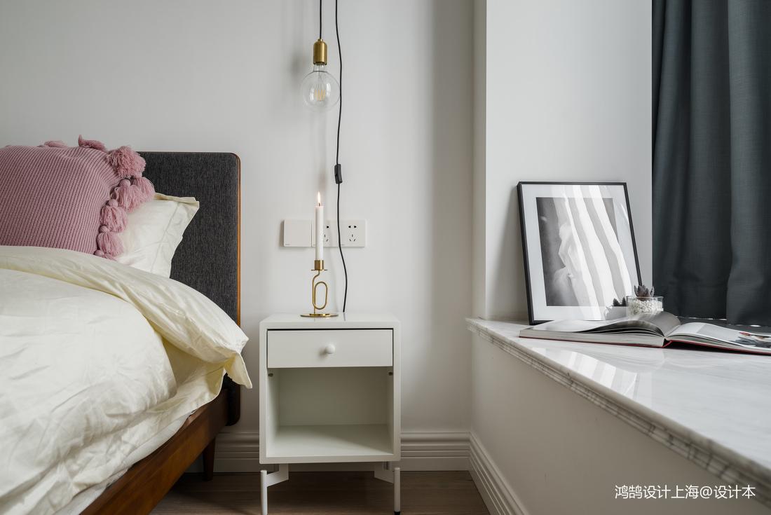2018精选82平米二居卧室北欧装修设计效果图
