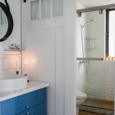 面积88平北欧二居卫生间装修设计效果图片大全