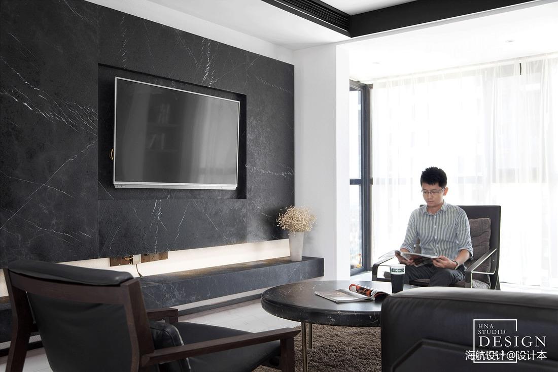 2018面积138平现代四居客厅装修实景图片
