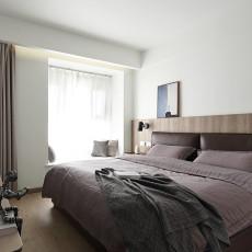 2018面积93平现代三居卧室装修实景图片