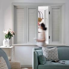 明亮617平美式别墅客厅实景图