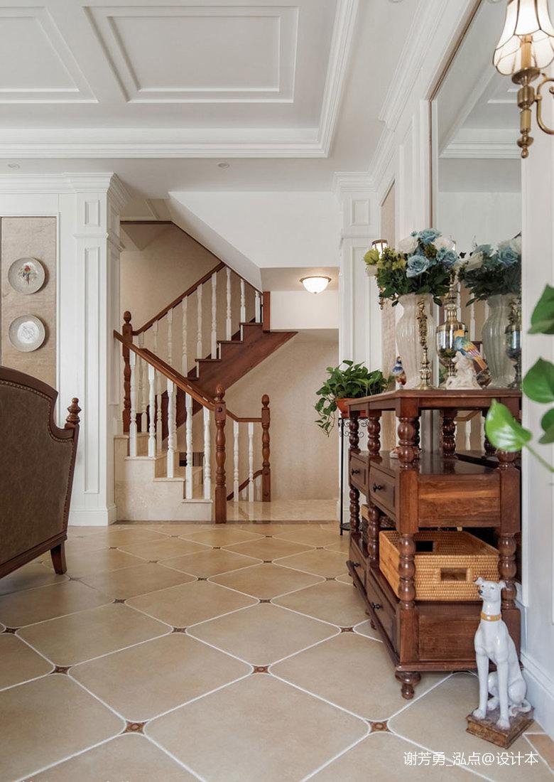 温馨600平美式别墅过道装修设计图