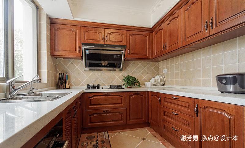温馨843平美式别墅厨房装饰图
