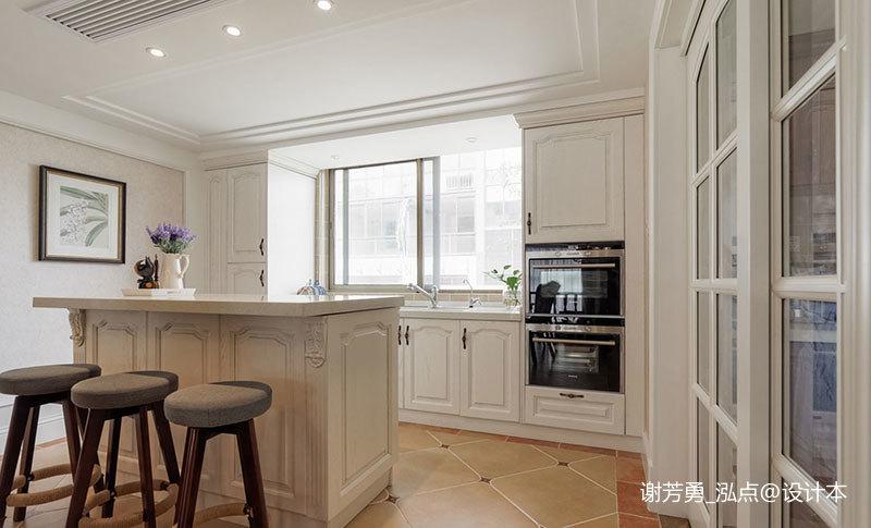 温馨874平美式别墅厨房设计案例