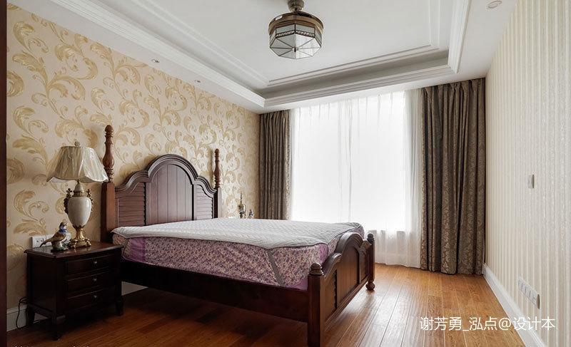 温馨549平美式别墅卧室装饰图