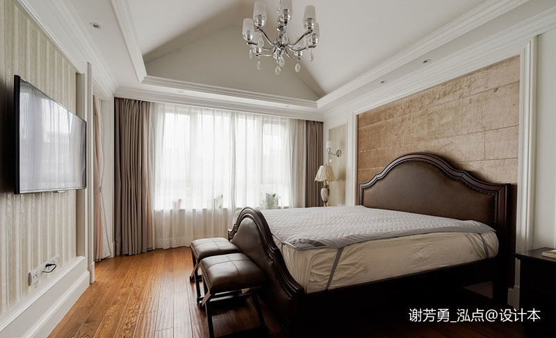 浪漫498平美式别墅卧室装修美图