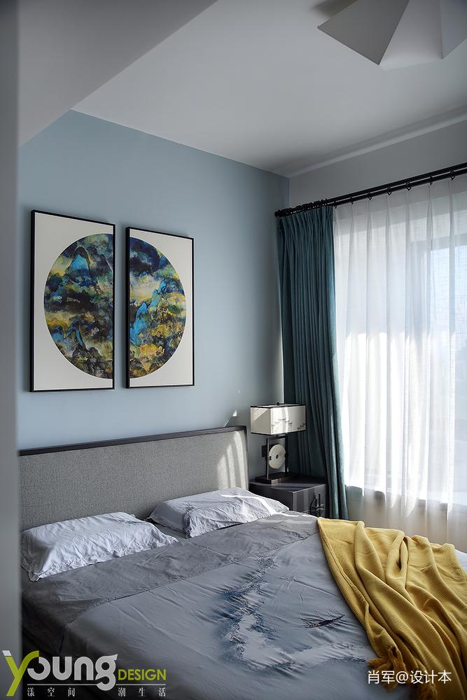 明亮118平中式三居卧室装饰图片