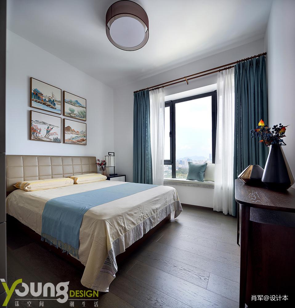 简洁82平中式三居卧室装修设计图