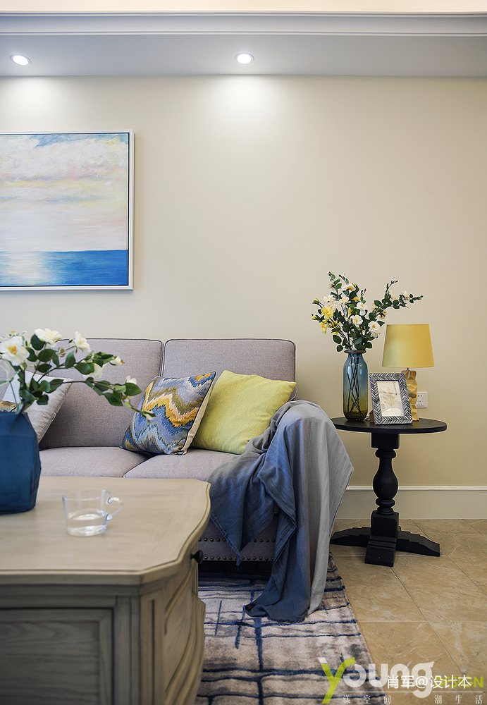 明亮39平美式小户型客厅装修设计图