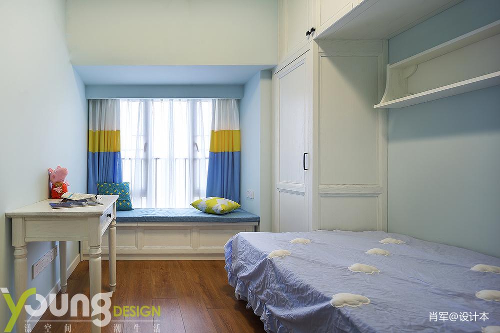 优雅38平美式小户型卧室装修图