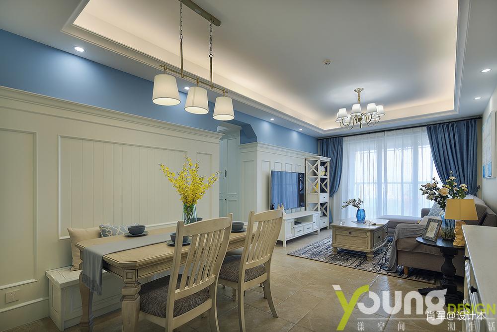 温馨31平美式小户型客厅装修效果图