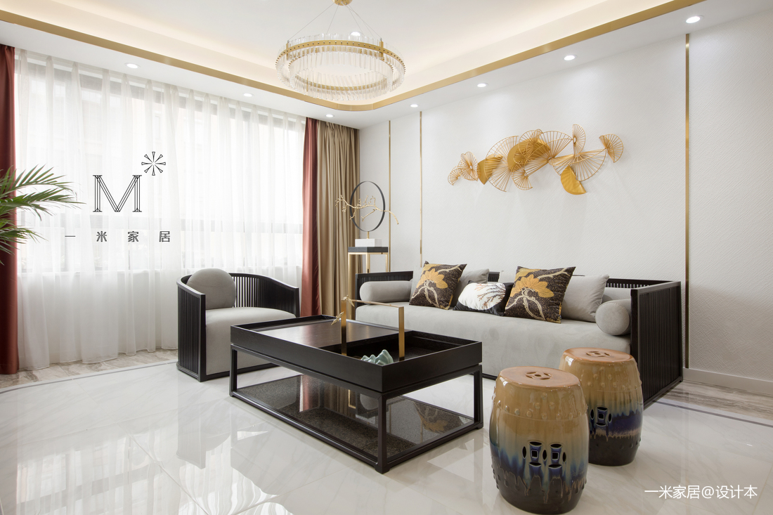 质朴100平中式三居客厅装饰美图