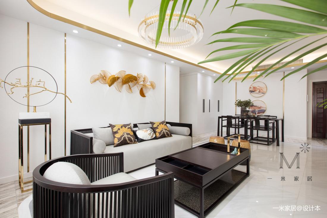 典雅102平中式三居客厅设计美图