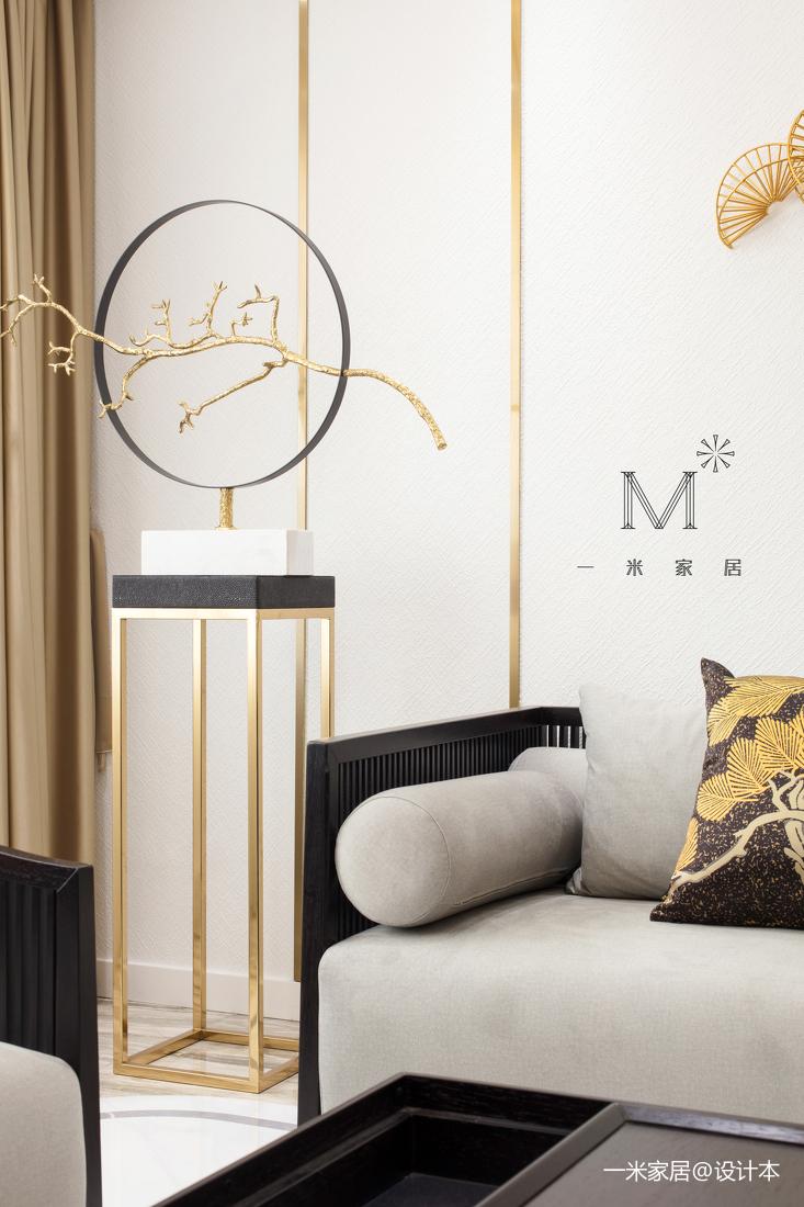 優美102平中式三居客廳裝修美圖