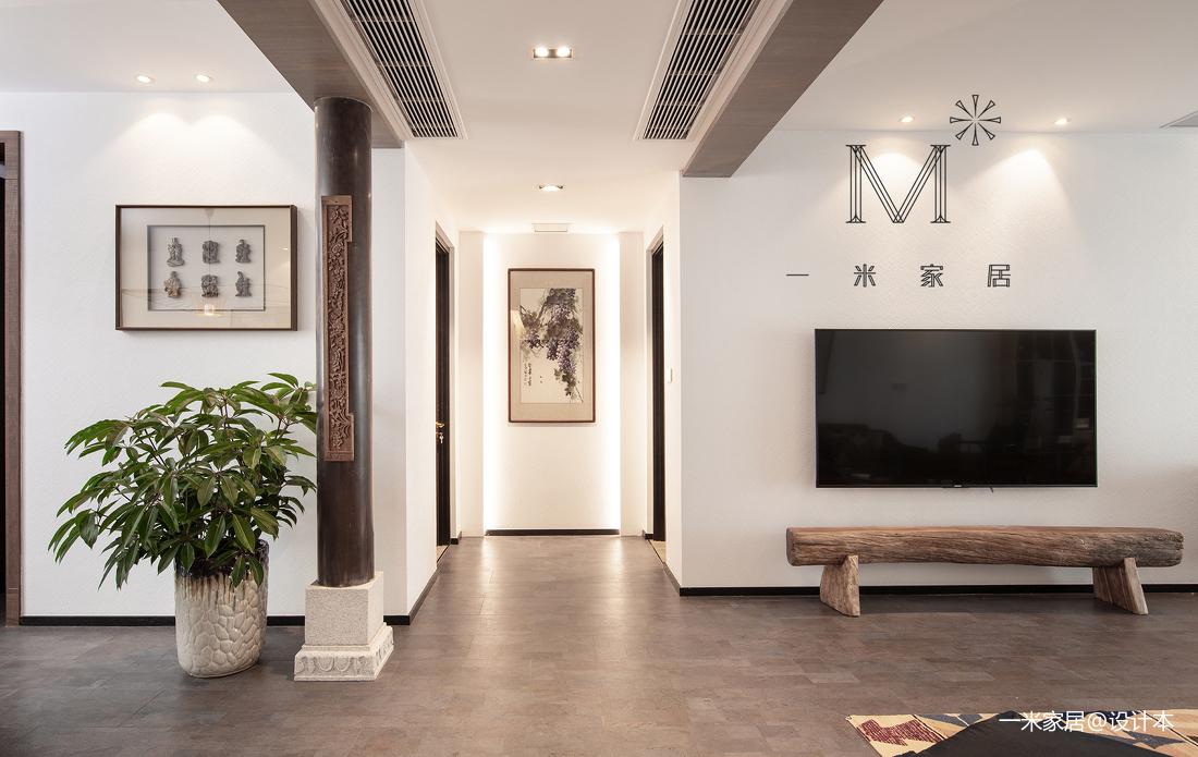 悠雅66平中式二居装潢图