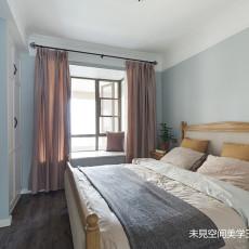 轻奢73平美式三居卧室图片大全
