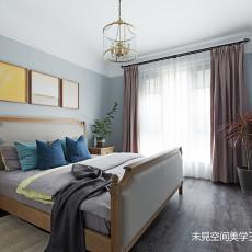 2019117平美式三居卧室装修装饰图