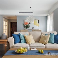 简洁140平美式三居客厅设计案例