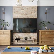 华丽123平美式三居客厅效果图欣赏