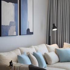悠雅75平现代三居客厅设计案例