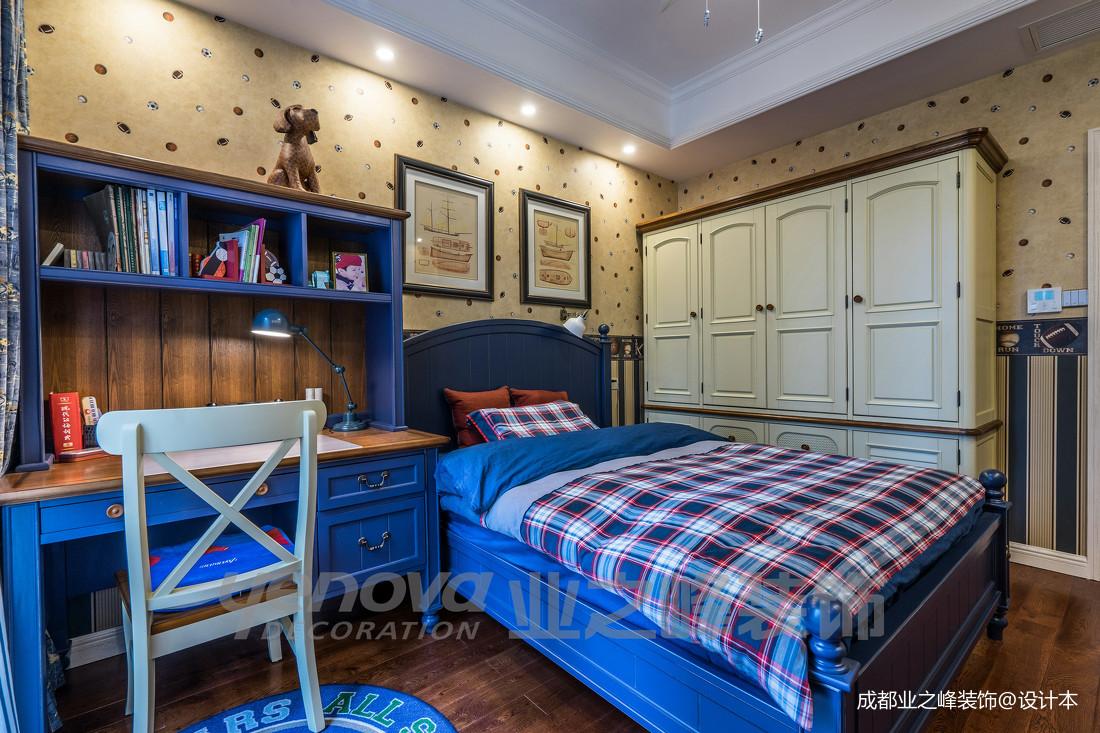 浪漫79平美式复式卧室效果图欣赏