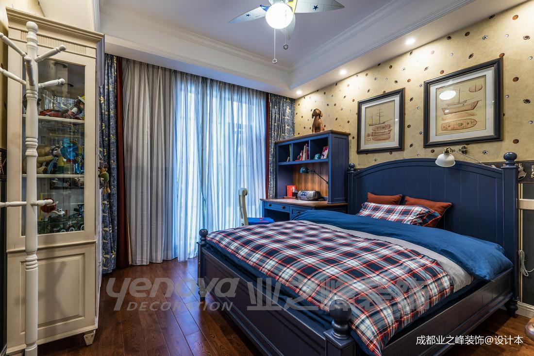 典雅47平美式复式卧室实景图片