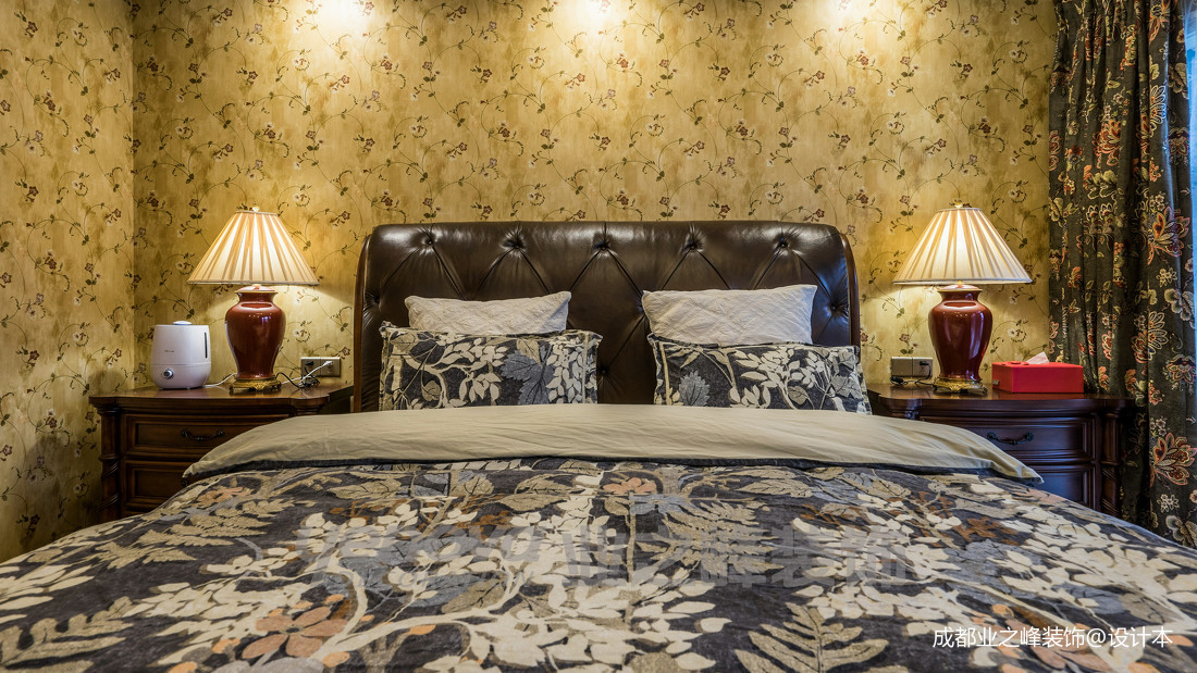 质朴71平美式复式卧室实拍图