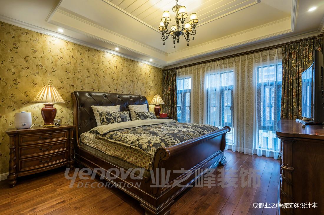 质朴75平美式复式卧室装饰图