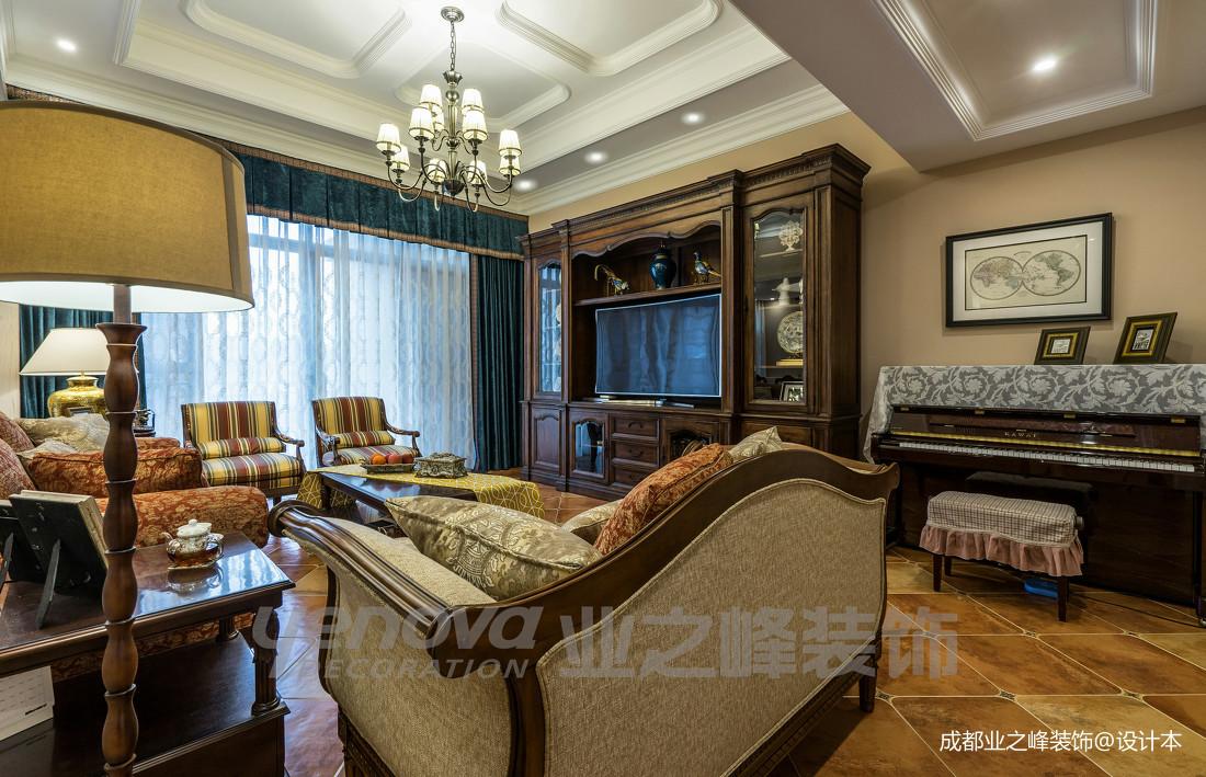 优美43平美式复式客厅图片大全