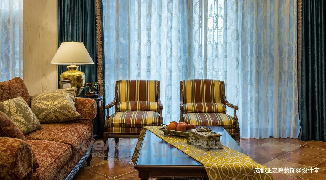 优雅42平美式复式客厅装修图