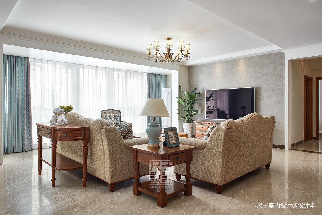 留香岁月美式复式客厅图
