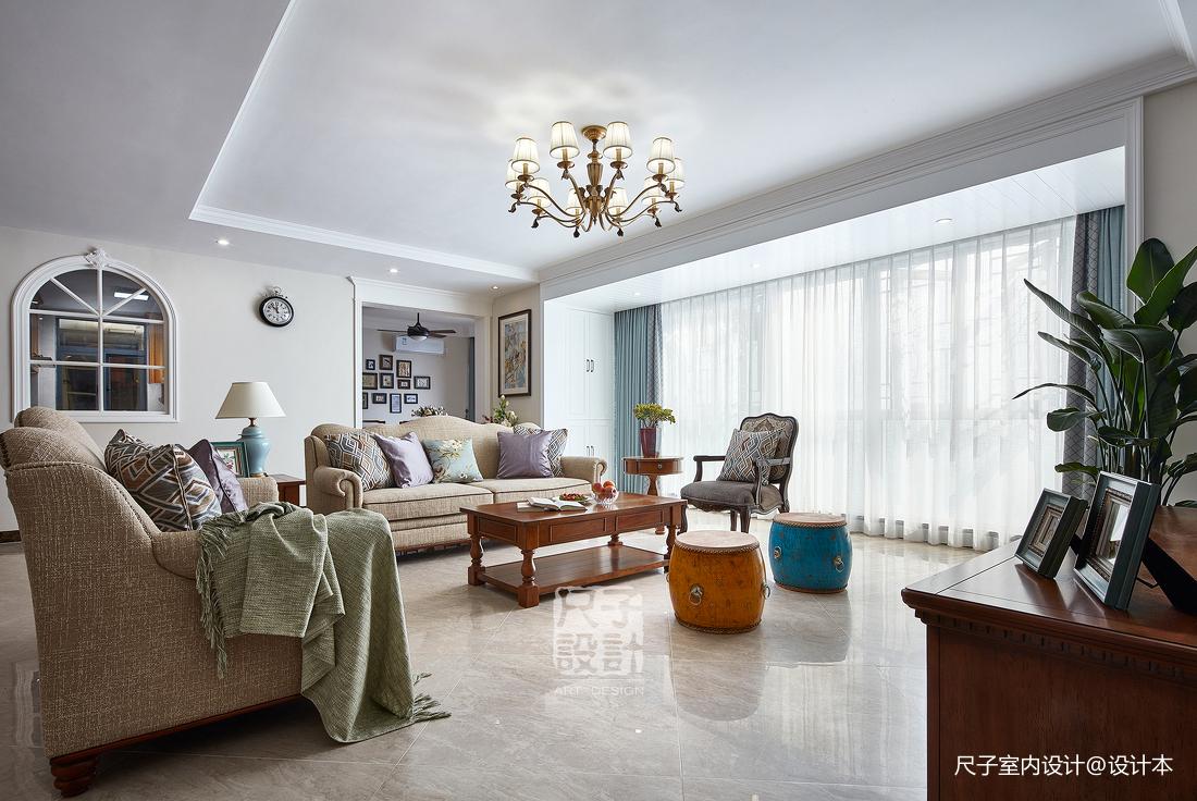留香岁月美式复式客厅设计图