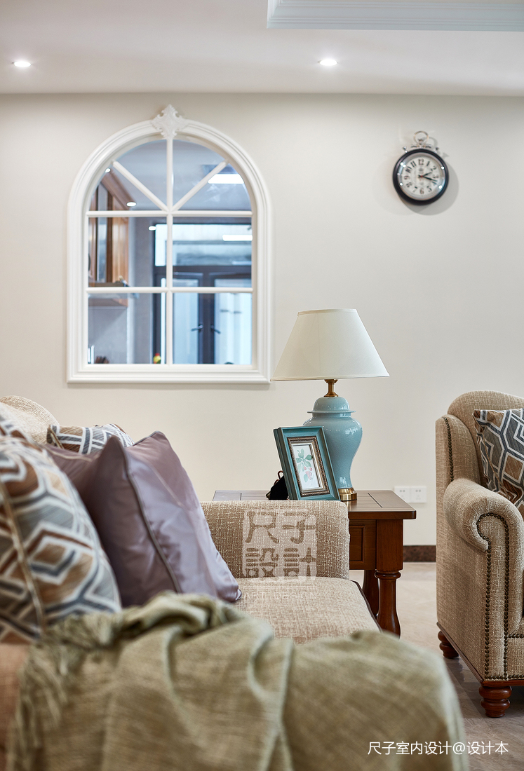 留香岁月美式客厅装修设计图