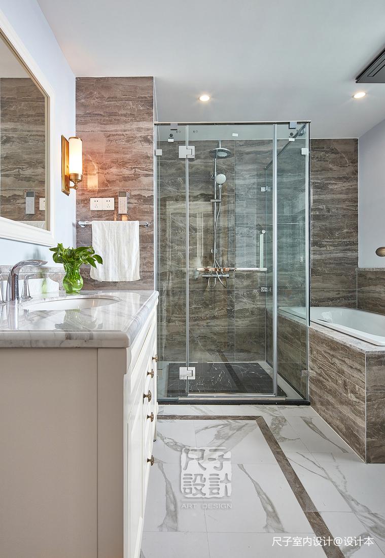 留香岁月美式复式卫浴设计图