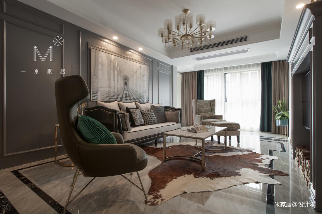 精致99平美式三居客厅装修案例