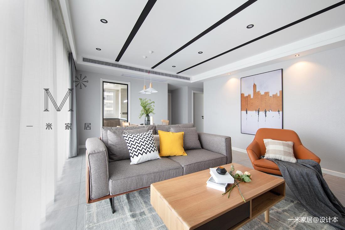 典雅76平现代二居客厅装修美图
