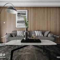 质朴128平现代三居客厅图片大全